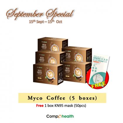 Myco Coffee 麦谷咖啡 (5 packs) free 1 box KN95 mask